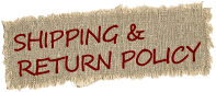 Shipping & Return Policy Label